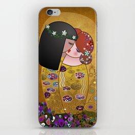 Kokeshis Lesbians The kiss of Klimt iPhone Skin