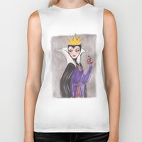 evil queen Biker Tanks featuring The Evil Queen by carotoki art and love