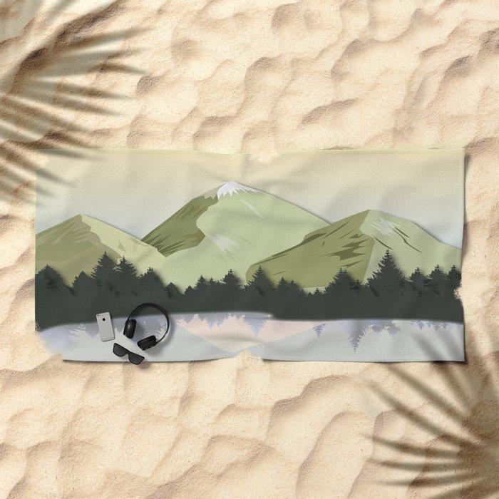 Night Mountains No. 20 Beach Towel
