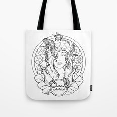 Zodiac Series   Aquarius Tote Bag