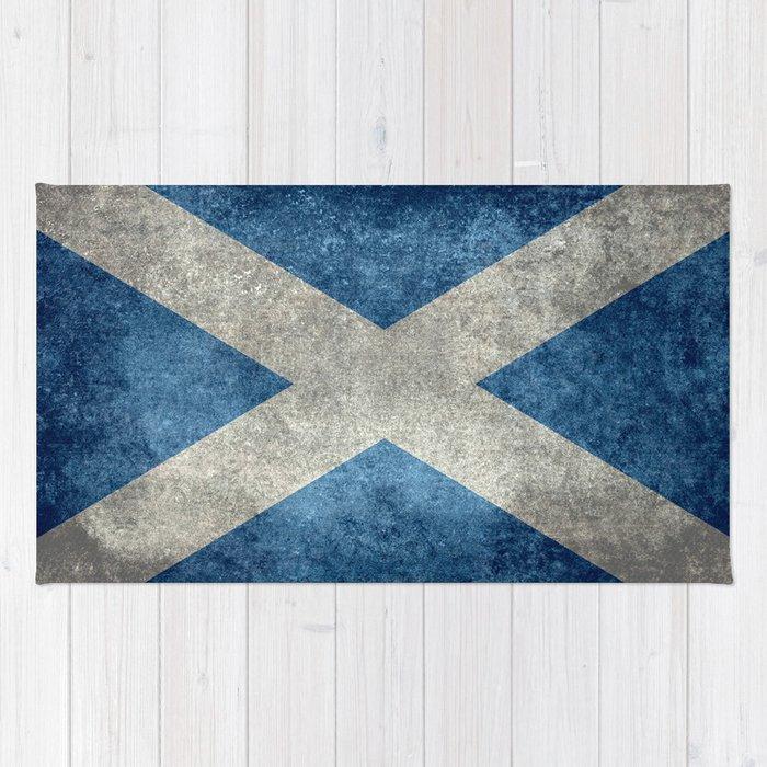 Scottish Flag Vintage Retro Style Rug
