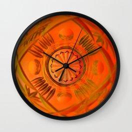 Looking Glass - Orange Wall Clock
