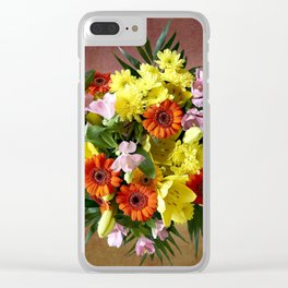 Bouquet Flowers Clear iPhone Case