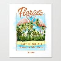 florida Canvas Prints featuring Florida by Omer Bintas