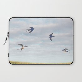 barn swallows, day lilies, and chicory Laptop Sleeve