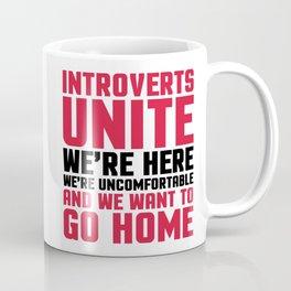 Introverts Unite Funny Quote Coffee Mug