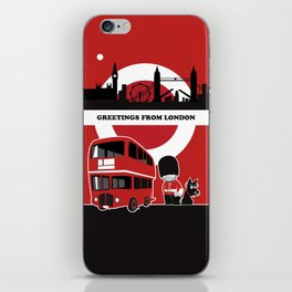 Greetings from London iPhone Skin