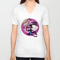 invader zim V-neck T-shirts featuring Invader Zim You Irk Me by squ1dp0ny