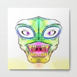 Crazy Monster Metal Print
