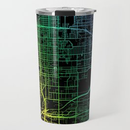 San Bernardino, CA, USA, City, Map, Rainbow, Map, Art, Print Travel Mug