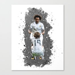 Watercolor Marcelo and modric Canvas Print