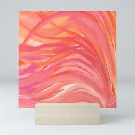 Abstract Pink Orange Purple Stripes Painting Girl Summer Colorful Mini Art Print