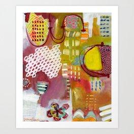 Jellyfish Garden Art Print