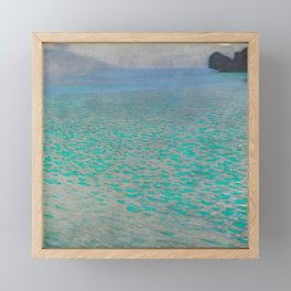 "Gustav Klimt ""Lake Attersee"" Framed Mini Art Print"