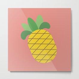 Bright Pineapple Metal Print