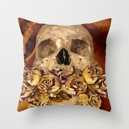 Flowery Tongue Throw Pillow