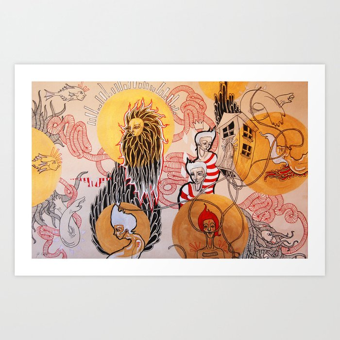 Cluster of Confusion Art Print