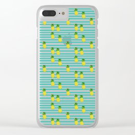 Ananas tropical summer pattern Clear iPhone Case