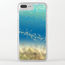 Abstract Seascape 04 wc Clear iPhone Case