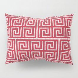 Oriental Symbol (Red & Silver) Pillow Sham