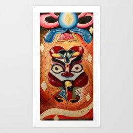 Kabuki King Art Print