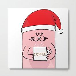 Christmas Coffee Metal Print