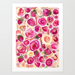 Messy Love  Art Print