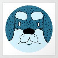 rottweiler Art Prints featuring ROTTWEILER by Flash Harrold