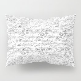 old writing Pillow Sham