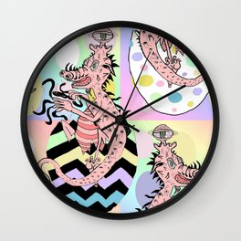 Easter Eggs Gone Very, Very Wrong Wall Clock