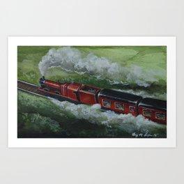 The Hogwarts Express | Watercolor Painting Art Print