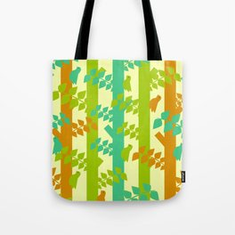 Birds and tree trunks Tote Bag