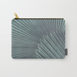 Tropical Palm Leaf Matte Teal Carry-All Pouch