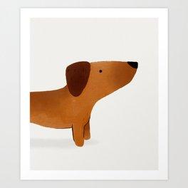 Watercolor Dachshund Weiner Dog Art Print