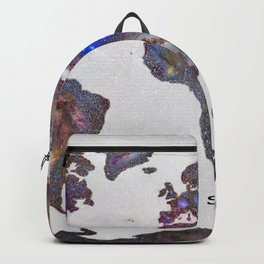 """Star map. Never stop exploring...II"". World map. Backpack"