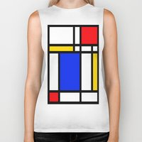 mondrian Biker Tanks featuring Mondrian by The Wellington Boot
