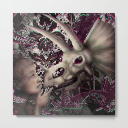 dinosaur reaction and the swanky zap Metal Print