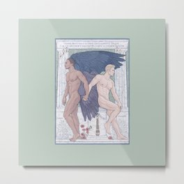 Hypnos and Thanatos (Sleep and Easeful Death) Metal Print