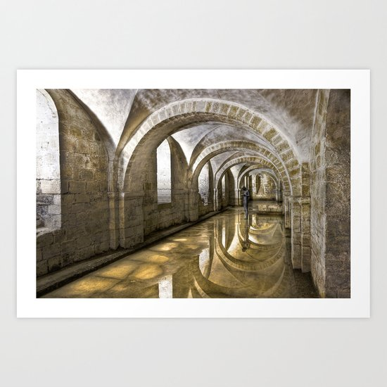 Winchester Cathedral Crypt Art Print