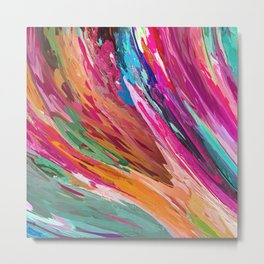 407 - Abstract Colour Design Metal Print