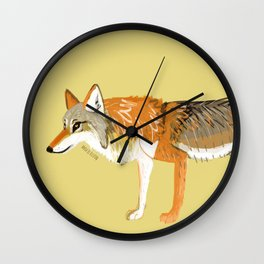 Wolves of the World: Canis lupus chanco (c) 2017 Wall Clock