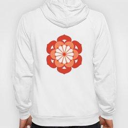 Lotus Flower Mandala, Pastel Orange and Mandarin Hoody