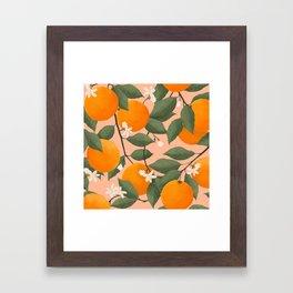 fresh citrus Framed Art Print