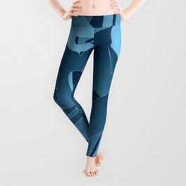 Blue Abstract Mayhem Leggings