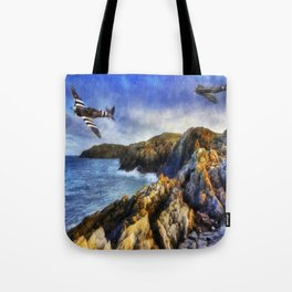 Spitfires On The Coast Tote Bag