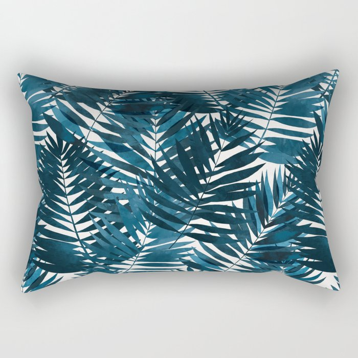 Ocean breeze palm // repeat pattern Rectangular Pillow