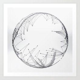 Minimal Geometric Circle Art Print