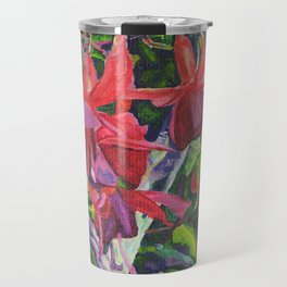 Hanging Fuchsia Travel Mug