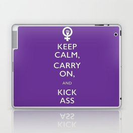 Feminist Keep Calm and Carry On Laptop & iPad Skin