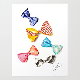 Bowties Art Print